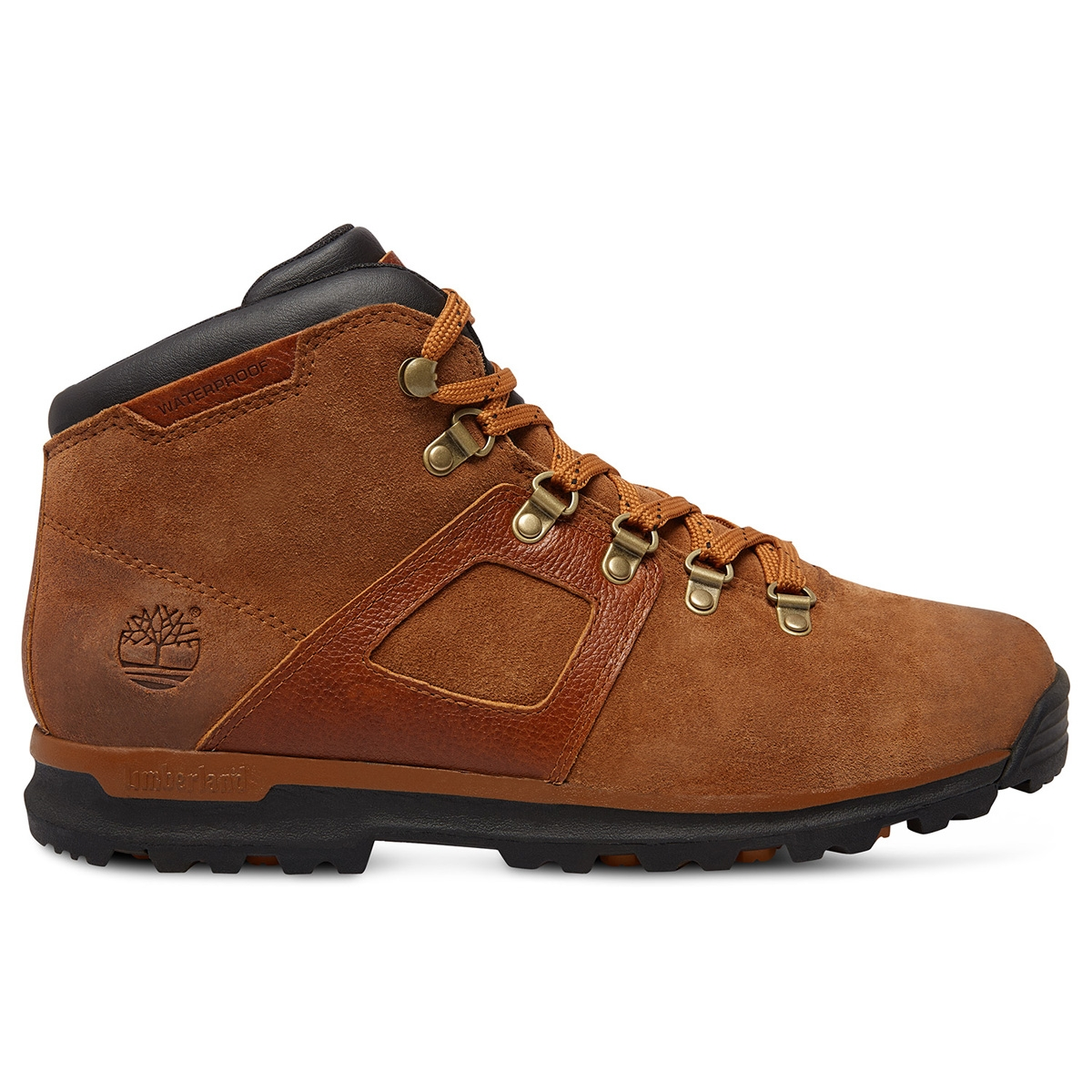 Image of Timberland GT Scramble Mid Leather Waterproof Boots (Men's) Brown