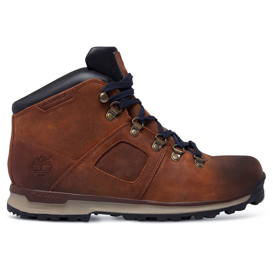 Image of Timberland GT Scramble Mid Leather Walking Boots (Men's) - Premium  Brown /