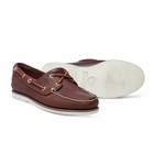 Image of Timberland Icon Classic 2 Tone 2 Eye Boat Shoe (Men's) - Dark Brown Smooth