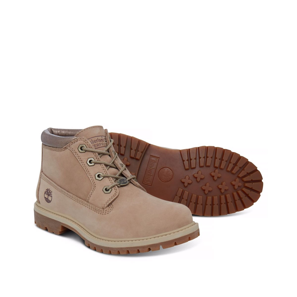 Image of Timberland Nellie Chukka Double WP Boots (Women's) - Natural  Nubuck ...