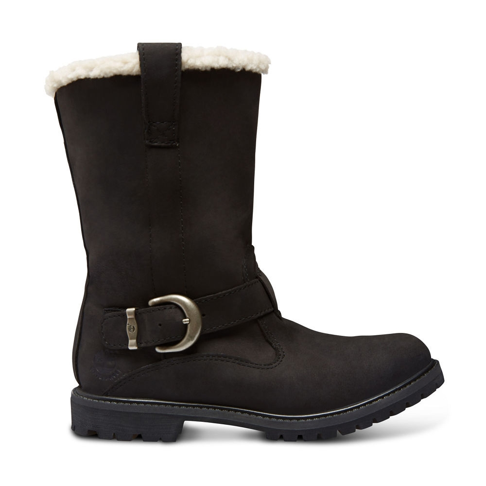 Image of Timberland Nellie Pull On WP Boots (Women's) Black Nubuck