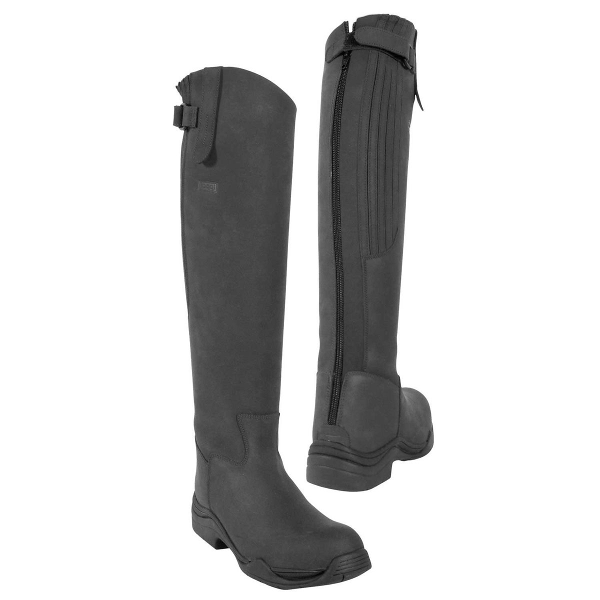 New Ravel Women39s Langley Leather Riding Boots  Black  FREE UK Delivery