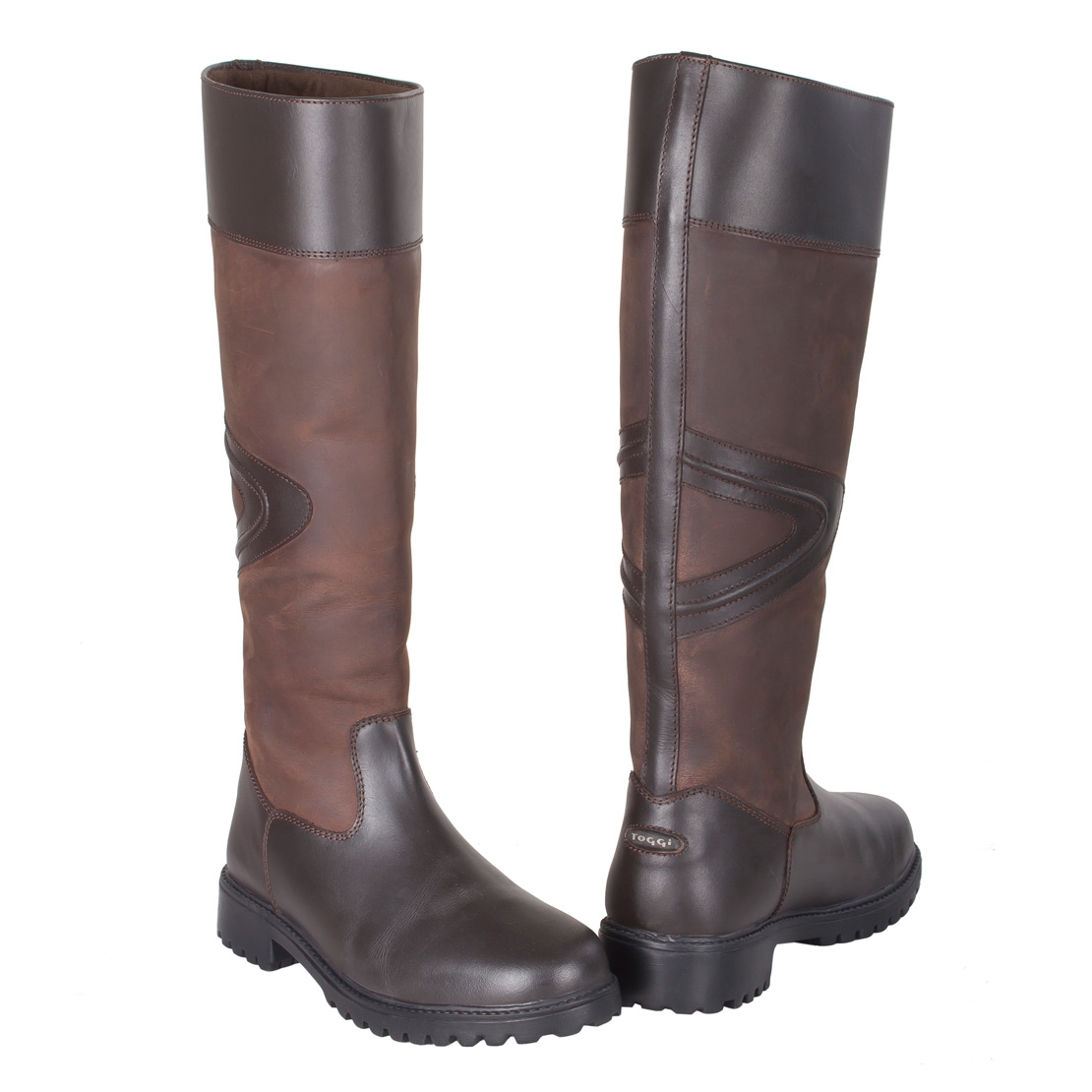 toggi rundle leather country boots unisex bitter