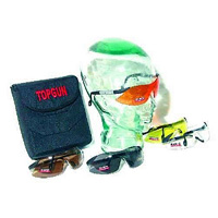Top Gun Elite Shooting Glasses Set of 5 with Padded Case