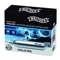 Umarex Walther CO2 Valve Maintenance Capsules (12g) - Pack of 5