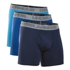 Under Armour Cotton Stretch 6 Inch Boxer - 3pk