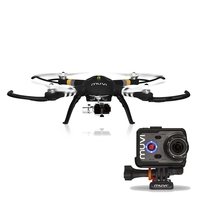 Veho Muvi Q-Series Q-1 Drone with Advanced 3-Axis Gimbal With Muvi K-2 Pro 4K Action Camera