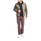Image of Aigle Beakeren Mixed Fabric Fleece Jacket - Kaki