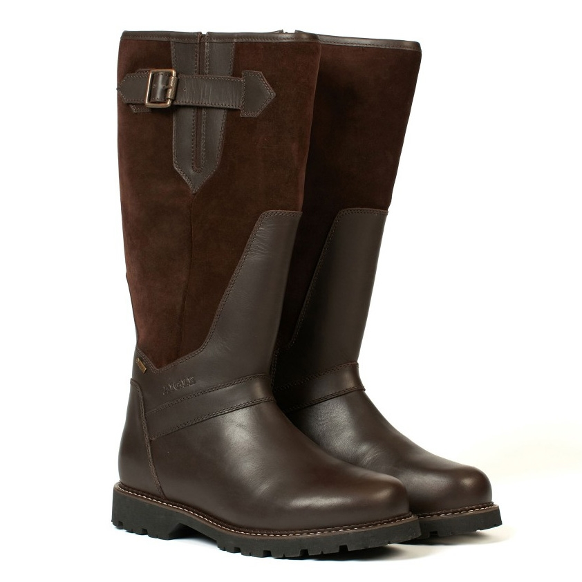 aigle parfield fur gtx country boots s brown