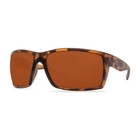 Image of Costa Del Mar Reefton Retro Sunglasses - Tortoise  Frame - Copper 580P Lens