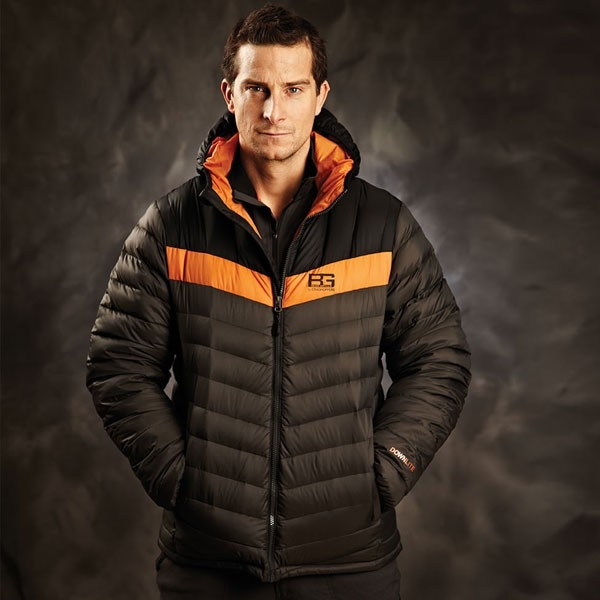 Bear Grylls sporting a black craghopper.