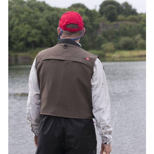 ... Image of Greys Strata Fly Vest - Dark Green ...