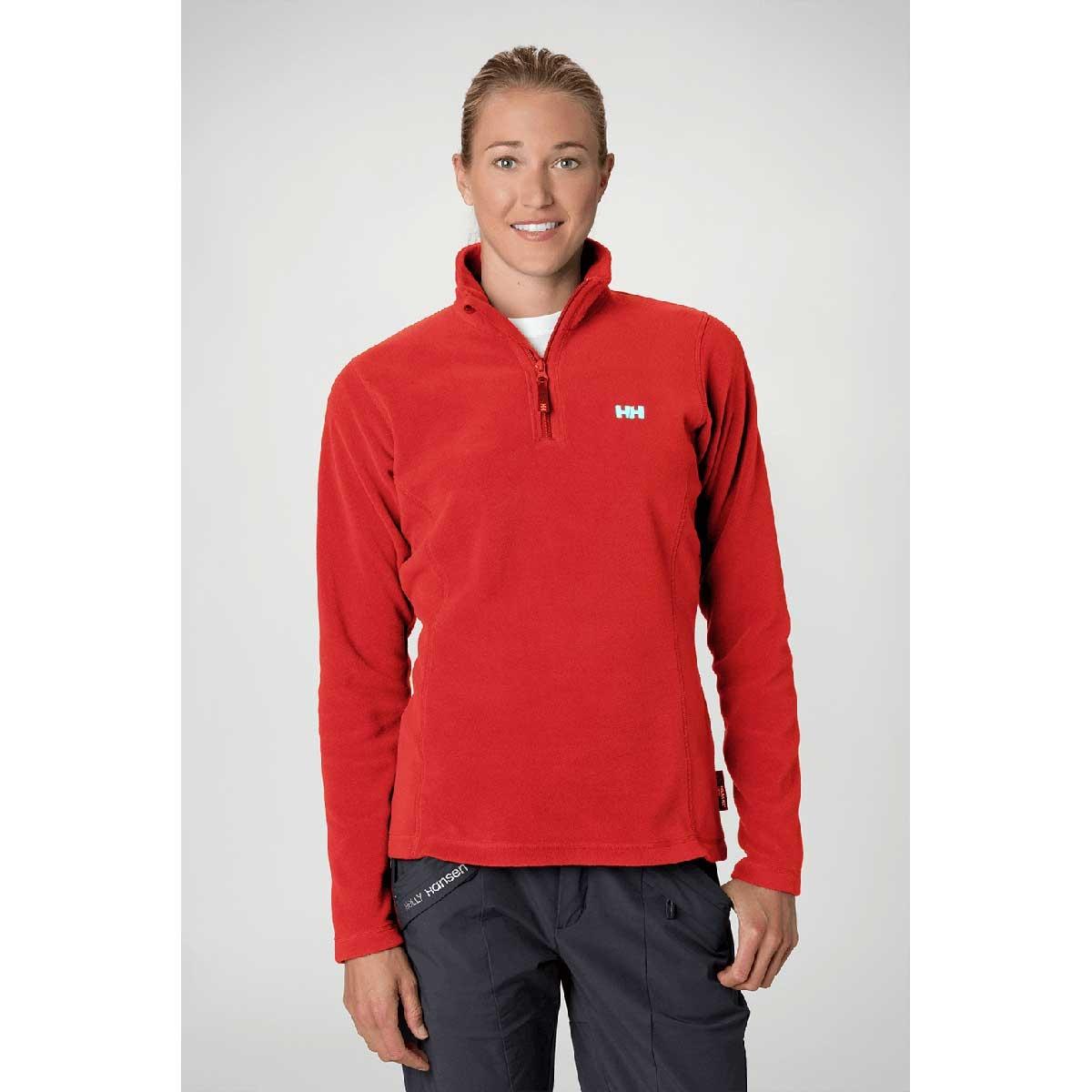 ... Image of Helly Hansen Daybreaker 1/2 Zip Fleece (Women's) - Summer Red  ...