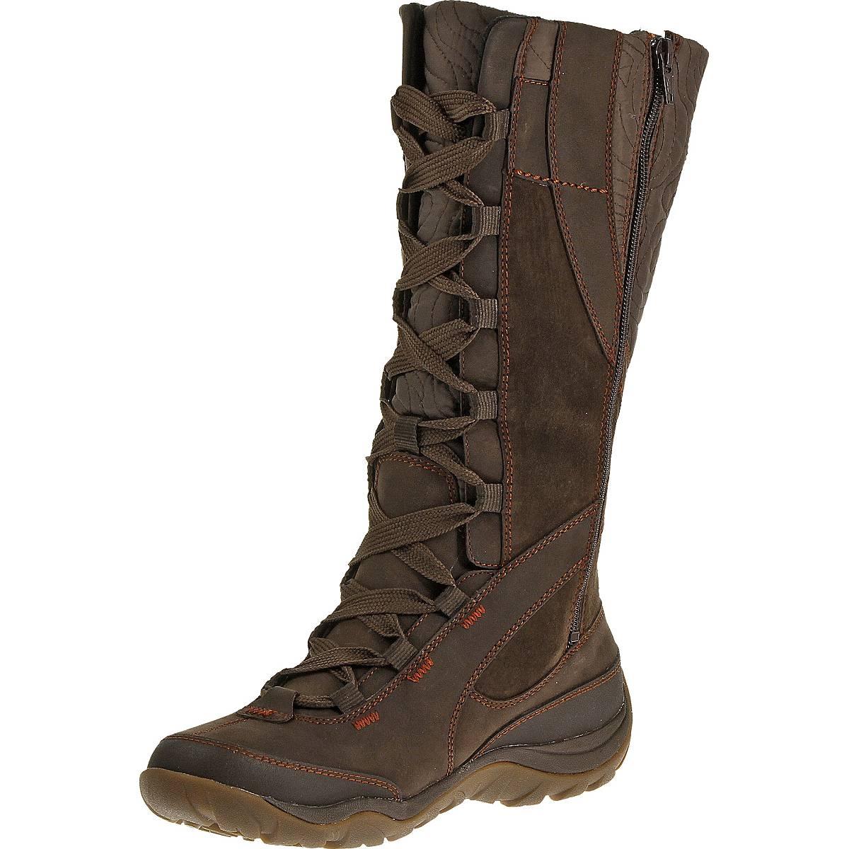merrell dewbrook peak waterproof boots s brown