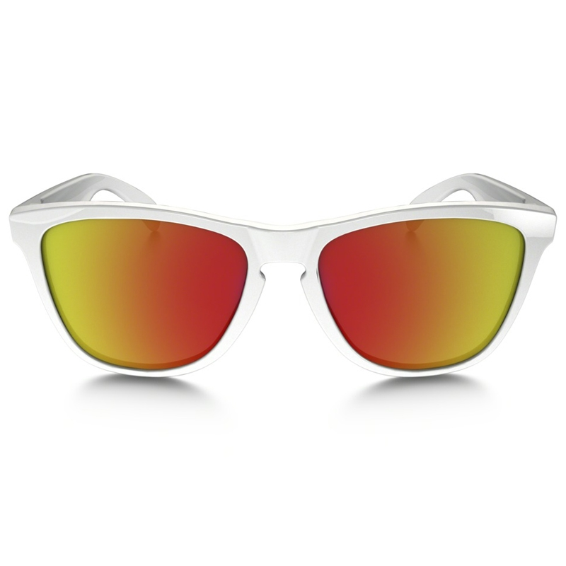 oakley frogskins ruby iridium white