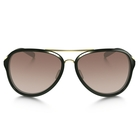 Image of Oakley Kickback Gemstone Collection Sunglasses - Gold-Tourmaline Frame/VR50 Brown Gradient Lens