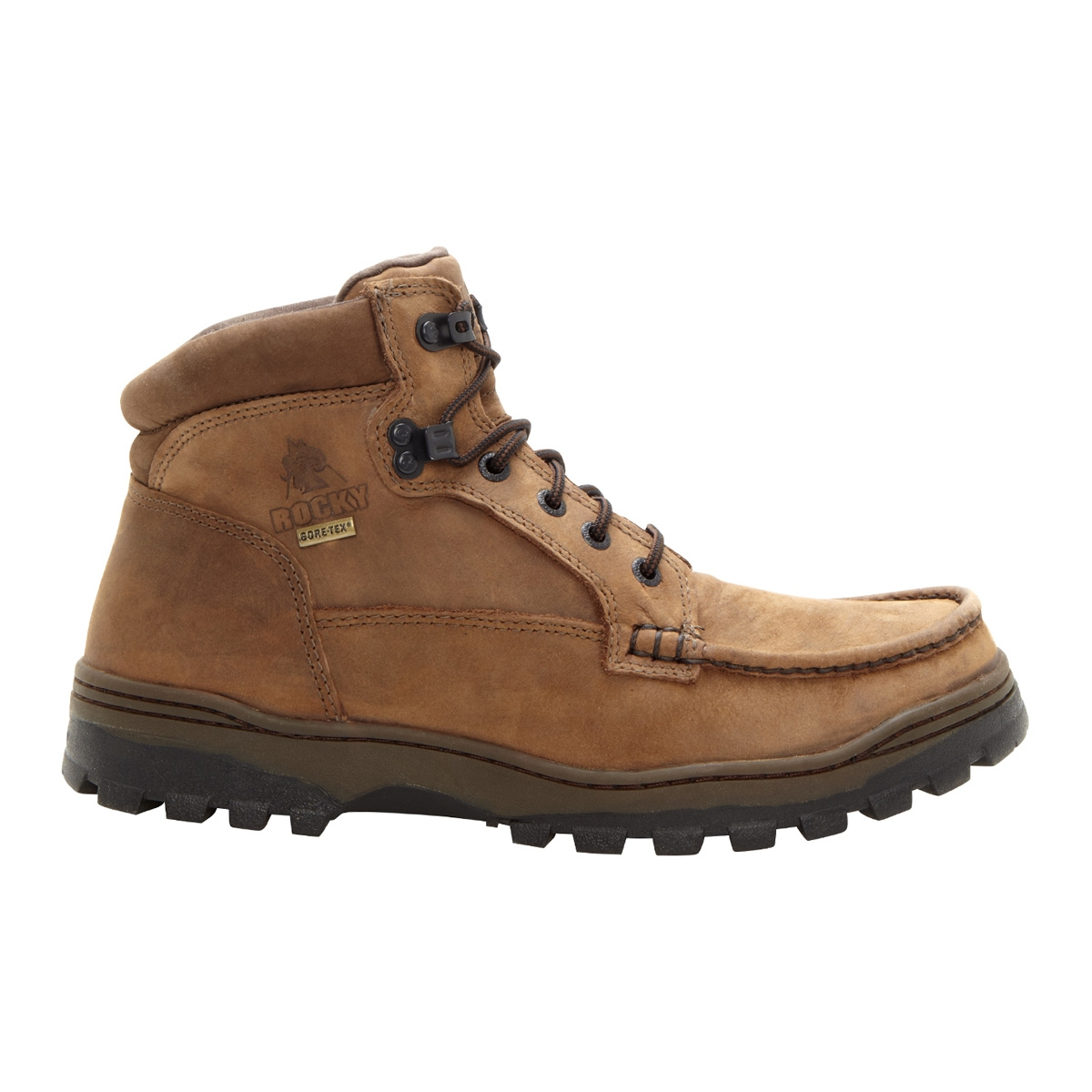 Rocky Outback Hiker 6 Inch GTX Leather Hiking Boots - Brown ...