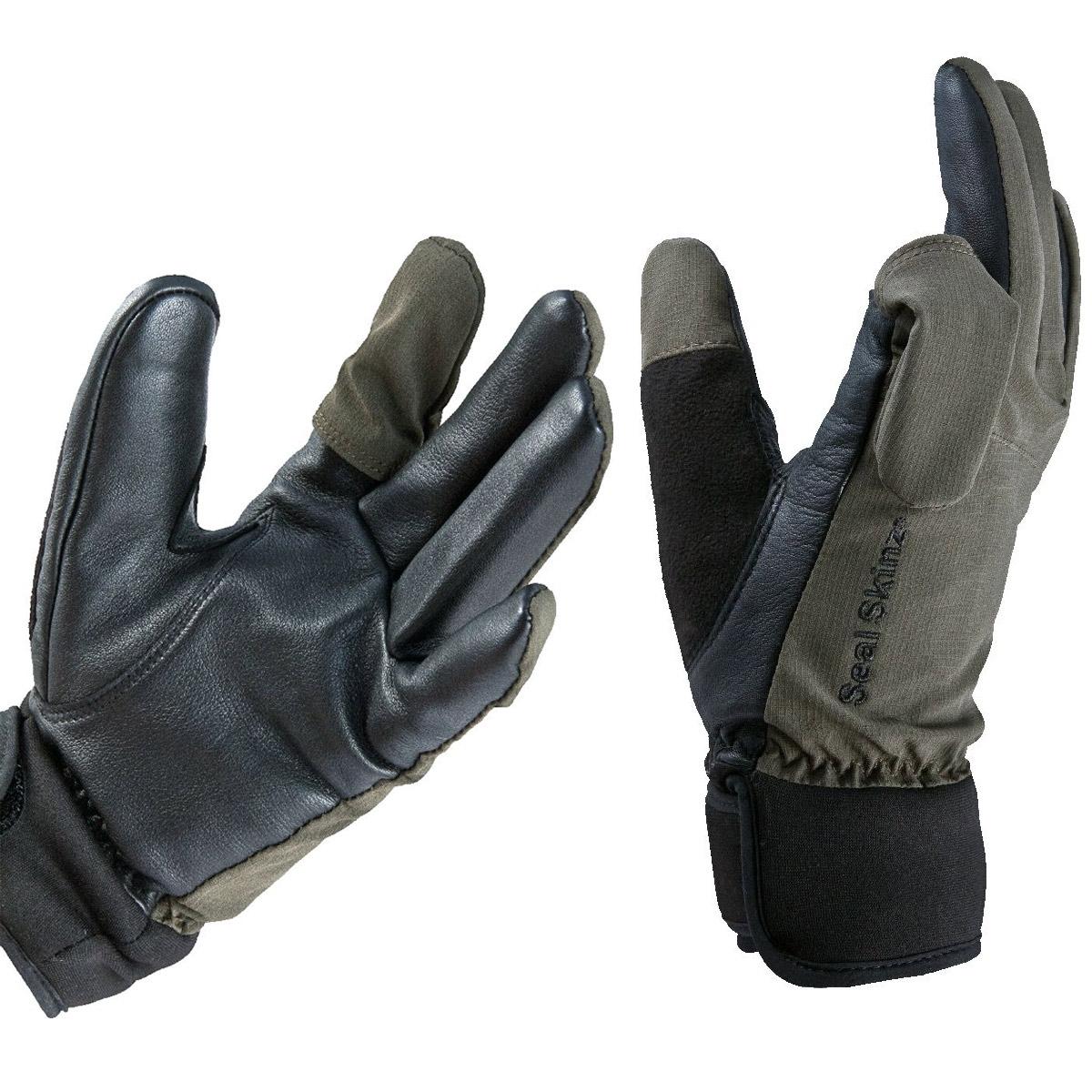 Black gloves uk - Image Of Sealskinz Shooting Glove Olive