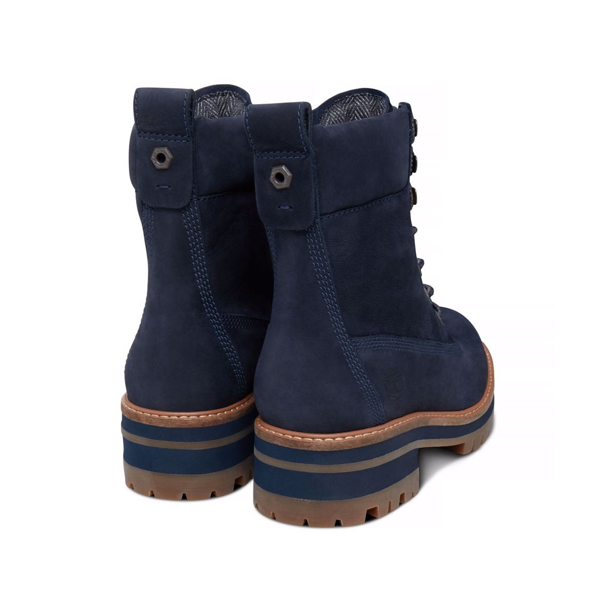 Unique Timberland Womens Teddy Fleece WP Fold-Down Boots Navy Blue 8312A | EBay