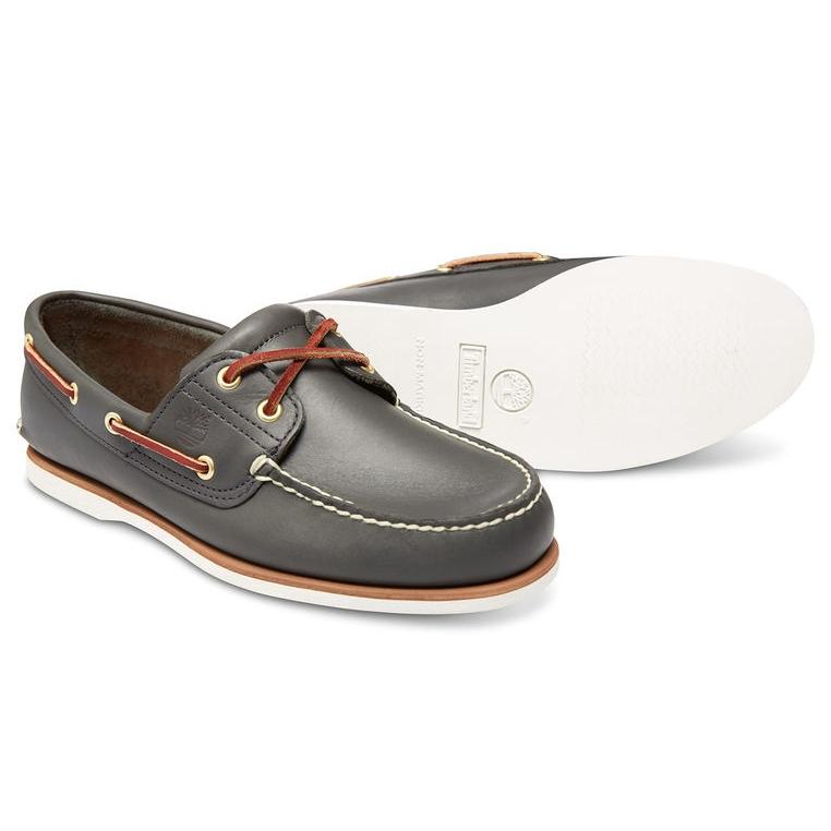 Clásico 2 Ojo Zapatos Del Barco Marino De Los Hombres De Timberland ehZR9xal